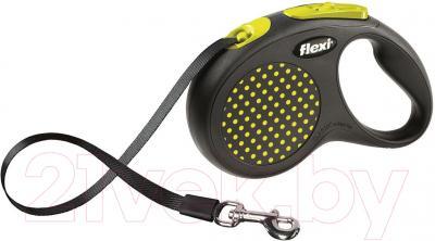Поводок-рулетка Flexi Design FLX430 (M-L, желтый, ременной)