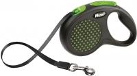 Поводок-рулетка Flexi Design FLX432 (M-L, зеленый, ременной) -