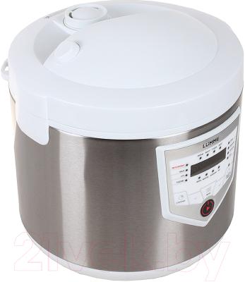 Мультиварка Lumme LU-1446 Chef Pro (белый/сталь) - вид спереди