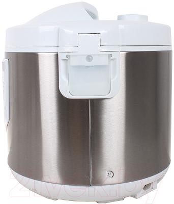 Мультиварка Lumme LU-1446 Chef Pro (белый/сталь) - вид сзади