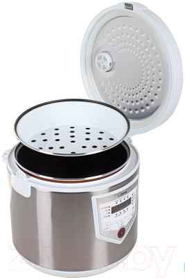 Мультиварка Lumme LU-1446 Chef Pro (белый/сталь) - с открытой крышкой