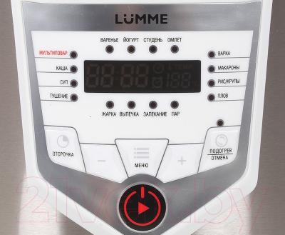 Мультиварка Lumme LU-1446 Chef Pro (белый/сталь) - панель
