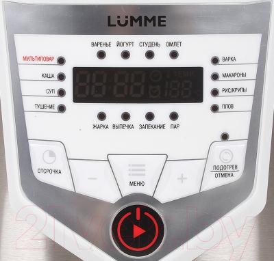 Мультиварка Lumme LU-1446 Chef Pro (розовый/белый) - панель