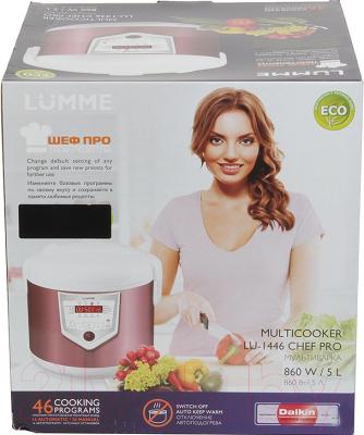 Мультиварка Lumme LU-1446 Chef Pro (розовый/белый) - коробка