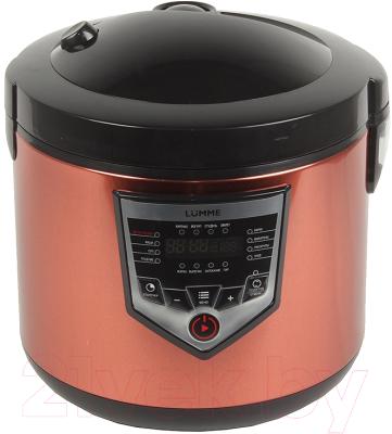 Мультиварка Lumme LU-1446 Chef Pro (черный/красный) - вид спереди