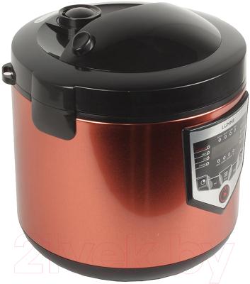 Мультиварка Lumme LU-1446 Chef Pro (черный/красный) - вид сбоку