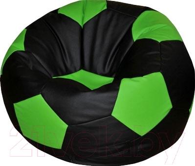 Бескаркасное кресло Flagman Мяч Стандарт М1.1-24 (черный/салатовый)