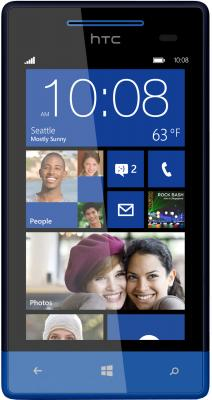 Смартфон HTC Windows Phone 8S Blue - общий вид