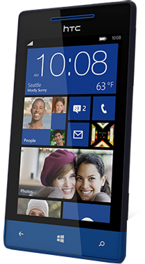 Смартфон HTC Windows Phone 8S Blue - полубоком
