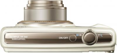 Компактный фотоаппарат Olympus VR-360 White - вид сверху