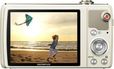 Компактный фотоаппарат Olympus VR-360 White - вид сзади