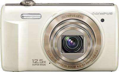 Компактный фотоаппарат Olympus VR-360 White - вид спереди
