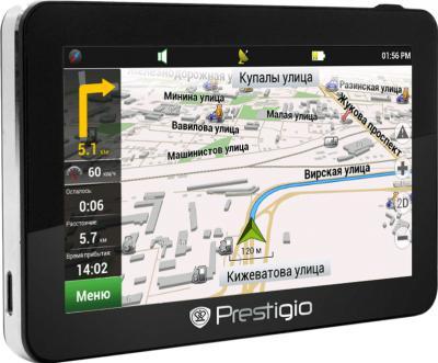 GPS навигатор Prestigio GeoVision 5766 (BT FM HD) - вид сбоку