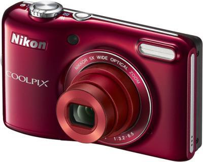 Компактный фотоаппарат Nikon Coolpix L28 Red - общий вид
