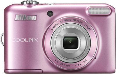 Компактный фотоаппарат Nikon Coolpix L28 Pink - вид спереди