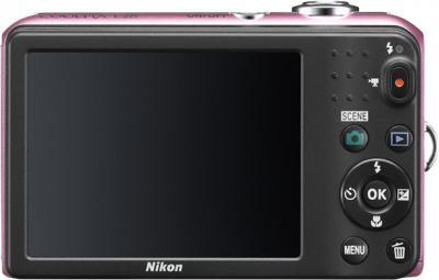 Компактный фотоаппарат Nikon Coolpix L28 Pink - вид сзади