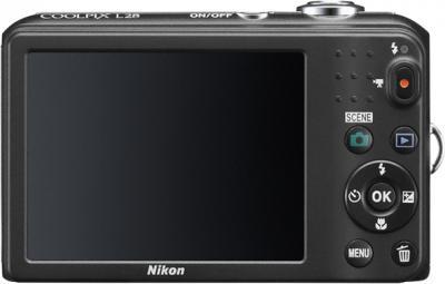 Компактный фотоаппарат Nikon Coolpix L28 Black - вид сзади