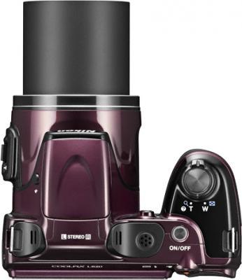 Компактный фотоаппарат Nikon Coolpix L820 Plum - вид сверху