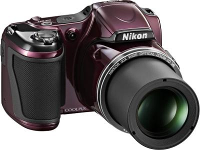 Компактный фотоаппарат Nikon Coolpix L820 Plum - общий вид