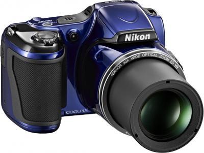 Компактный фотоаппарат Nikon Coolpix L820 Blue - общий вид