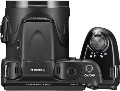Компактный фотоаппарат Nikon Coolpix L820 Black - вид сверху
