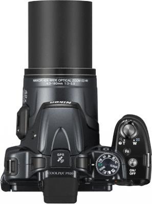 Компактный фотоаппарат Nikon Coolpix P520 Silver - вид сверху