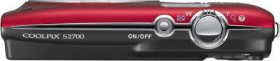 Компактный фотоаппарат Nikon Coolpix S2700 Red - вид сверху