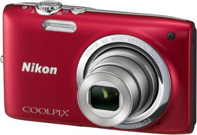 Компактный фотоаппарат Nikon Coolpix S2700 Red - общий вид