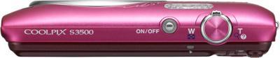 Компактный фотоаппарат Nikon Coolpix S3500 Pink Patterned - вид сверху