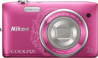 Компактный фотоаппарат Nikon Coolpix S3500 Pink Patterned - общий вид