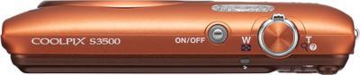 Компактный фотоаппарат Nikon Coolpix S3500 Orange - вид сверху