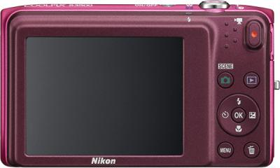 Компактный фотоаппарат Nikon Coolpix S3500 Pink - вид сзади