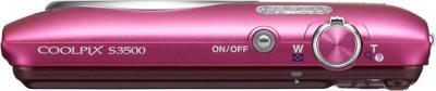 Компактный фотоаппарат Nikon Coolpix S3500 Pink - общий вид