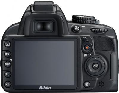 Зеркальный фотоаппарат Nikon D3100 Kit 18-55mm VR + 55-300mm VR - вид сзади