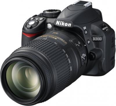 Зеркальный фотоаппарат Nikon D3100 Kit 18-55mm VR + 55-300mm VR - общий вид