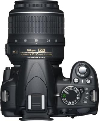 Зеркальный фотоаппарат Nikon D3100 Kit 18-55mm VR + 55-300mm VR - вид сверху