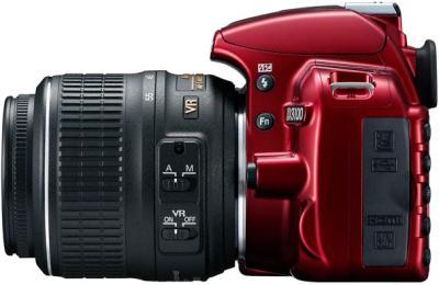 Зеркальный фотоаппарат Nikon D3100 Kit 18-55mm VR Red - вид сбоку