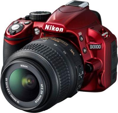 Зеркальный фотоаппарат Nikon D3100 Kit 18-55mm VR Red - общий вид