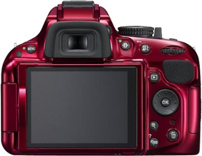 Зеркальный фотоаппарат Nikon D5200 Kit 18-55mm VR Red - вид сзади