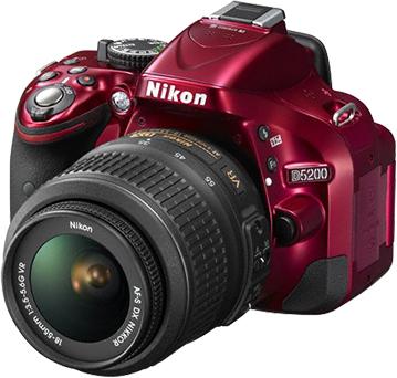Зеркальный фотоаппарат Nikon D5200 Kit 18-55mm VR Red - общий вид