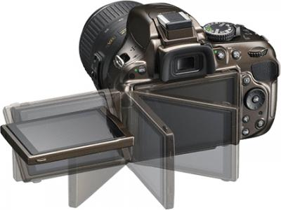 Зеркальный фотоаппарат Nikon D5200 Kit (18-55mm VR, бронзовый) - поворотный экран