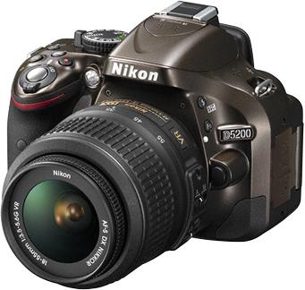 Зеркальный фотоаппарат Nikon D5200 Kit (18-55mm VR, бронзовый) - общий вид