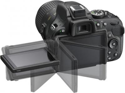Зеркальный фотоаппарат Nikon D5200 Kit  (18-105mm VR) - поворотный экран