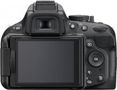 Зеркальный фотоаппарат Nikon D5200 Kit (18-55mm VR, черный) - вид сзади