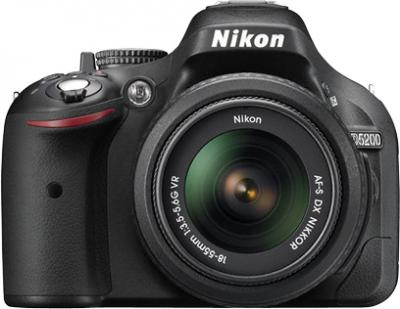 Зеркальный фотоаппарат Nikon D5200 Kit (18-55mm VR, черный) - общий вид