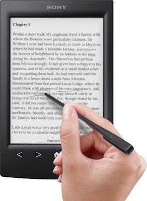 Электронная книга Sony PRS-T2BC (Black) - выделение текста с помощью стилуса