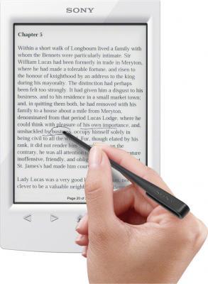 Электронная книга Sony PRS-T2WC (White) - выделение текста при помощи стилуса