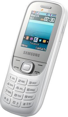 Мобильный телефон Samsung E2202 White (GT-E2202 ZWASER) - общий вид