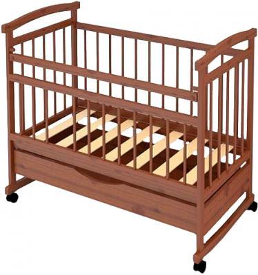 Детская кроватка Бэби Бум Аленка-1 (орех) - общий вид