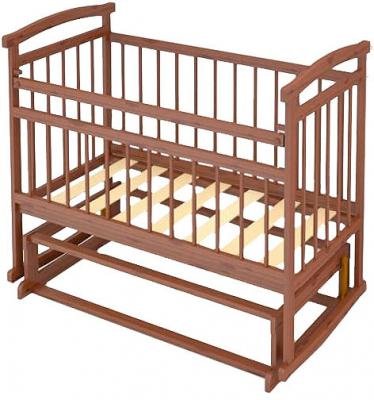 Детская кроватка Бэби Бум Аленка-2 (Орех) - общий вид